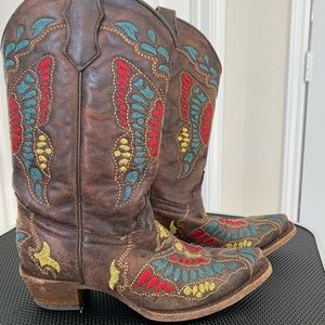 Corral Teen Butterfly Boots - Bought at Cavendars